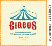vintage poster for the circus.... | Shutterstock .eps vector #318538676