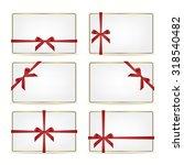 set of realistic white gift... | Shutterstock .eps vector #318540482