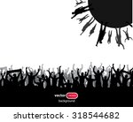 banner from the crowd | Shutterstock .eps vector #318544682