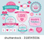 set of  happy valentine's day... | Shutterstock .eps vector #318545036