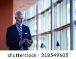 senior business man talk on... | Shutterstock . vector #318549605