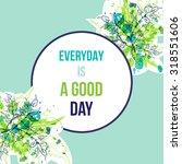 green watercolor splash... | Shutterstock .eps vector #318551606