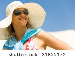 portrait of pretty young lady... | Shutterstock . vector #31855172