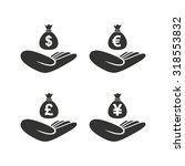 helping hands icons. money... | Shutterstock .eps vector #318553832