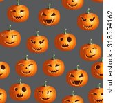 halloween realistic colorful... | Shutterstock .eps vector #318554162