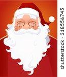vector santa claus portrait | Shutterstock .eps vector #318556745