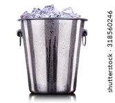 champagne metal ice bucket... | Shutterstock . vector #318560246