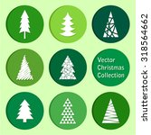 vector collection  christmas... | Shutterstock .eps vector #318564662