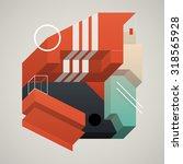 abstract 3d design element.... | Shutterstock .eps vector #318565928