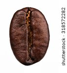 coffee bean isolated on white... | Shutterstock . vector #318572282