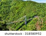 The Yellow Train (Train Jaune) on Cassagne bridge - France, Pyrenees-Orientales