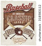 baseball vector for t shirt... | Shutterstock .eps vector #318583112