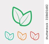 leaf icon  vector illustration. ... | Shutterstock .eps vector #318601682