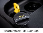 closeup engine oil cap in... | Shutterstock . vector #318604235