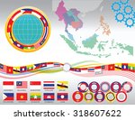 aec or asean or south east... | Shutterstock .eps vector #318607622