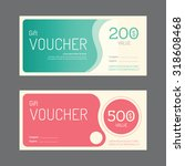 vector gift voucher coupon... | Shutterstock .eps vector #318608468