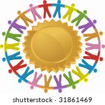 teamwork shield icon   Shutterstock .eps vector #31861469