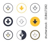 illustration of download icons...