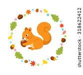 Squirrel In The Autumn