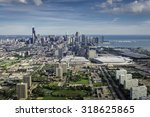 Aerial View Of Chicago Downtow...