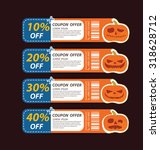 halloween sale offer design... | Shutterstock .eps vector #318628712
