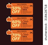 halloween sale offer design... | Shutterstock .eps vector #318628718