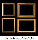 gold frame elegant vintage... | Shutterstock . vector #318629735