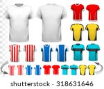 collection of various soccer... | Shutterstock .eps vector #318631646