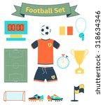 football icons set  vector... | Shutterstock .eps vector #318634346