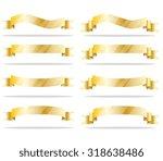 golden ribbon | Shutterstock .eps vector #318638486