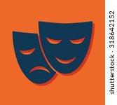 theatre masks icon | Shutterstock .eps vector #318642152