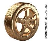 Modern Golden Car Wheel...
