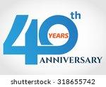 40 years anniversary template... | Shutterstock .eps vector #318655742