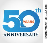50 years anniversary template... | Shutterstock .eps vector #318666188