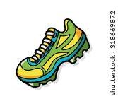 running shoes doodle | Shutterstock .eps vector #318669872