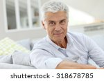 portrait of elderly man... | Shutterstock . vector #318678785