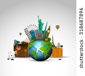 travel of the world  background.... | Shutterstock .eps vector #318687896
