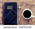 Smartphone Over The Holy Bibl...