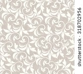 seamless damask pattern in beige | Shutterstock .eps vector #318702956