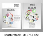 business vector templates ... | Shutterstock .eps vector #318711422
