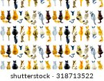 cats seamless background.... | Shutterstock . vector #318713522