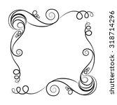 frame. decorative elements.... | Shutterstock .eps vector #318714296