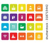 hotel icons. accommodation icon.... | Shutterstock .eps vector #318715442