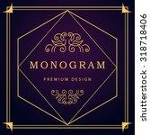 monogram design elements ... | Shutterstock .eps vector #318718406