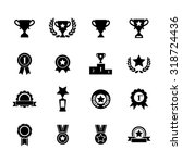 trophy and prize icons. victory ... | Shutterstock .eps vector #318724436