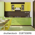 modern green and yellow ... | Shutterstock . vector #318733898