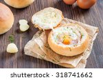 sandwich with egg  cheese and... | Shutterstock . vector #318741662