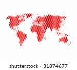 world map in hexagons | Shutterstock .eps vector #31874677