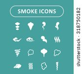 cloud and smoke vector icons | Shutterstock .eps vector #318750182