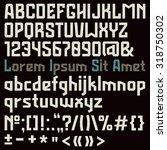 sanserif font in the sport... | Shutterstock .eps vector #318750302